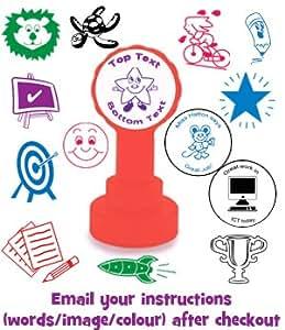 Tampons auto-encreurs personnalisés pour enseignants : Tampons Scolaires Personnalisés pour Notation de Copies, Encouragement, Récompense. Créez votre propre et unique tampon en nous envoyant simplement vos informations par email.