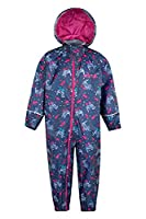 Mountain Warehouse Puddle Kids Printed Waterproof Rain Suit Bright Pink 2-3 years