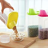 #7: Royals (Set of 4) 2.5L Plastic Food Grain Candy Storage Box Containers Kitchen Accessories Tool Food Storage Containers Plastic Kitchen Food Cereal Storage Dispenser Rice Container Box Holder Airtight Containers Airtight Container for Flour and Sugar Dried Food Cereal Pasta Flour Storage Dispenser Food Rice Container Box Storage Containers Transparent Storage Sealed Tank Food Storage Cans Dumping of Dried Fruit Snacks Antibacterial Storage Tank (Random Color) Capacity 2.5 Liter