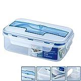 ZREAL 1000 mL Mikrowelle Lunchbox Mit Suppe Schüssel Stäbchen Löffel 3 Grids Geschirr Student Food Storage Bento Boxen Set
