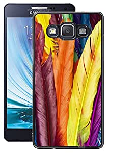 ColourCraft Colourful Feathers Design Back Case Cover for SAMSUNG GALAXY A5 A500F