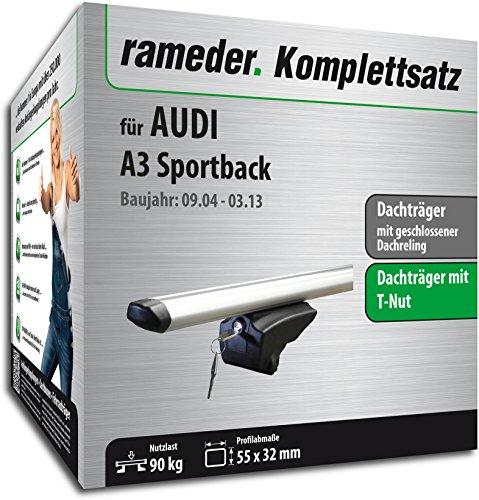 Rameder Komplettsatz, Dachträger Pick-Up für Audi A3 Sportback (111287-05143-12) -