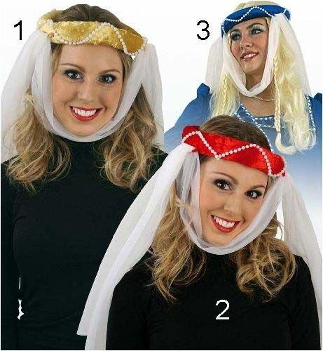 Kostüm Blau Mittelalterlichen Ritter - Jungfernkranz Samt Mittelalter Haarkranz Kopfbedeckung sortierte Farben