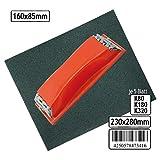 Schleifset 15 Blatt Schleifpapier + Schleifklotz 3 unterschiedliche Körnung