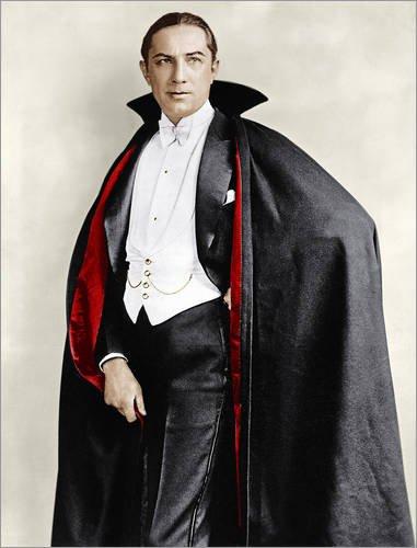 Forex-Platte 60 x 80 cm: Bela Lugosi in Kostümen für seine Rolle in dem Broadway-Stück von Everett Collection