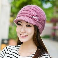 Wenxin0815 Im Herbst Und Winter Warme Gestrickte Mütze Mit Einem Dicken Mütze