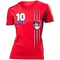 love-all-my-shirts 6 Verschiedene Serbien FANSHIRTS Motive auswählbar - Damen T-Shirt Gr.S bis XXL - Golebros