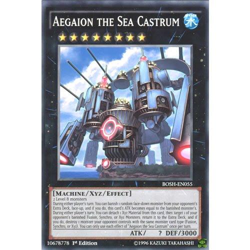 YuGiOh : BOSH-EN055 1st Ed Aegaion the Sea Castrum Common Card - ( Breakers of Shadow ) by Deckboosters