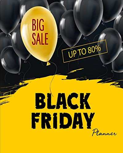 Black Friday Planner Big Sale: Cyber Monday Countdown Shopping Tracker on Department Store and Shopping Schedule (Holiday Shopping Sales)
