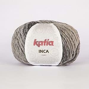 Katia Inca 116 Pelote de laine Bordeaux/marron 100 g