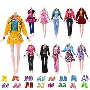 1 Set Handmade Fashion Clothes Dress For  Doll Gift Color Random JB