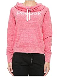Womens Reebok Elements Pink Sweatshirt Sweater Top Cowl Neck XS S M L