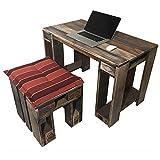 Palettenmöbel Garnitur PELEKUNU aus zertifiziertem Palettenholz, jedes Teil ist einzigartig und Wird in Deutschland in Handarbeit gefertigt