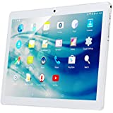 "QIMAOO 10.1"" Inch Android Tablet Pc, 2Gb Ram 32Gb Storage Phablet Tablet Quad Core Unlocked 3G Cell Phone Tablets, Dual Camera Sim Card Slots, Wifi, Gps, Bluetooth 4.0,1280X800 Hd Ips Screen Display, Google Play (Silver)"
