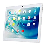 "10.1"" Inch Android Tablet PC, QIMAOO 2GB RAM 32GB Storage Phablet Tablet Quad Core Unlocked 3G Cell Phone Tablets, Dual Camera Sim Card Slots, Wifi, GPS, Bluetooth 4.0,1280x800 HD IPS Screen Display, Google Play (Silver)"