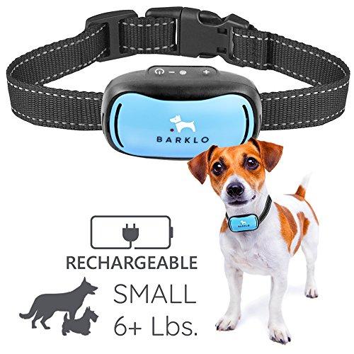 Barklo Mini Vibrationshalsband für kleine Hunde - wiederaufladbar und wasserdicht Kontrolle von übermäßigen Bellen mit diesem einfachen und effektiven Antibell Halsband für kleine und mittlere Hunde ab 2,5kg und 12cm-48cm Halsumfang Sicher und human ohne Shock