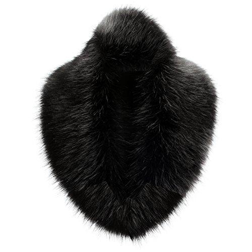 YANIBEST Large Detachable Long Faux Fur Collar for Winter Coat