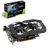 ASUS GeForce GTX 1660 Ti Dual Fan Overclocked Edition VR Ready Dual HDMI DP 1.4 Gaming Grafikkarte (Dual-GTX1660TI-O6G)
