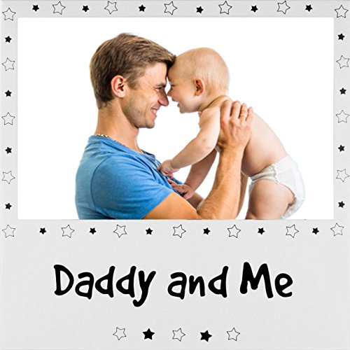 New daddy and me cornice dad baby son daughter padre 15,2x 10,2cm portafoto argento metallo in alluminio