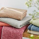 Ibena Wolldecke Lausanne, Baumwolldecke rot, Kuscheldecke 140x200cm, kuschelig warm und angenehm leicht, Tagesdecke 100% Baumwolle, hochwertige Qualität aus kontrolliert biologischen Anbau
