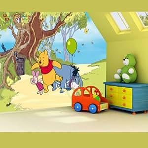 Posters: Winnie l'Ourson Papier Peint Photo/Poster - Winnie Porcinet Et Bourriquet, 4 Parties (364 x 254 cm)