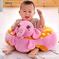 Babies Bloom Pink Cartoon Children Sofa Chairs Baby Support Seat (12 Months to 2 Years) (50x50x30cm)