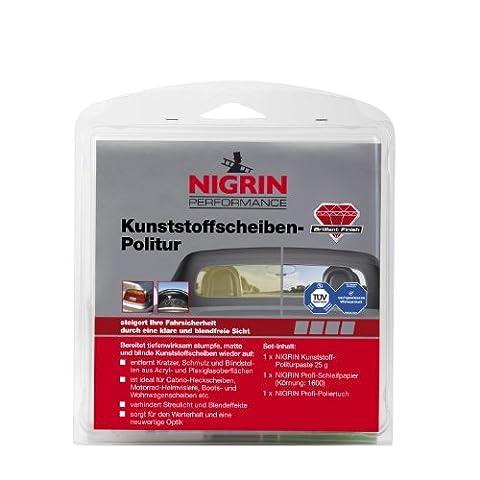 NIGRIN 73914 RepairTec Acryl-und Plexiglas Politur-Set: 1 x NIGRIN Kunststoff-Politurpaste 25 g, 1 x NIGRIN Profi -Schleifpapier (Körnung: 1600), 1 x NIGRIN Profi