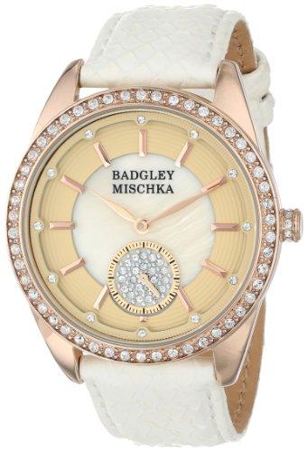 badgley-mischka-womens-ba-1316pmrg-swarovski-crystal-accented-rose-gold-tone-white-snakeskin-strap-w