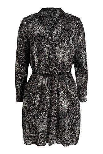 ESPRIT Collection Damen Kleid 026eo1e013-mit Gürtel Grau (GREY 030)