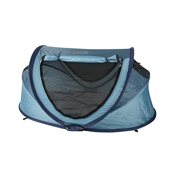 NSA Deluxe UV Travel Centre (Ocean Blue) NSA NSAuk Travel Centre is a Travel Cot & Sunshelter all in one Includes self-inflating mattress, sleep mat & insect mesh protection Offers UPF25+ against harmful rays from the sun 1