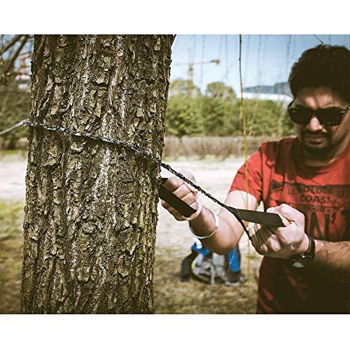 Amasawa Motosega a Mano, Pocket Chainsaw Hand Chain Saw Sega a Mano con Sacchetto di Trasporto per Gli Attrezzi da Campeggio,Il Giardinaggio e Le Emergenze (24 Pollici) - 8