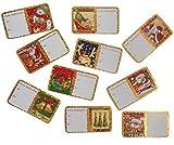 Weihnachtssticker Set, 60-tlg. mit 10 verschiedenen Motiven hergestellt von EAST-WEST Trading GmbH