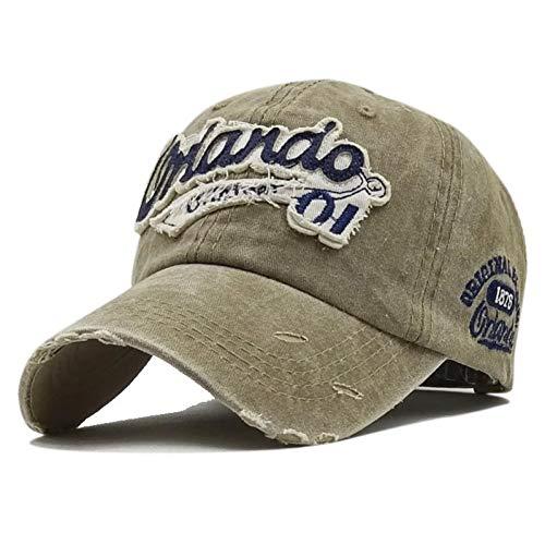 YPORE Gewaschene Baseball-Cap Baumwolltuch Orlando Bestickt Brief Hut Herren Hut Mütze Kaufen Sie 2 Stück