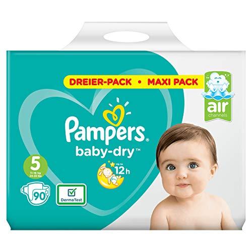 Pampers Baby-Dry Gr.5, 90Windeln, Für Atmungsaktive Trockenheit, 90 Stück
