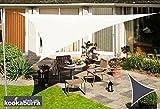 immagine prodotto Tenda a Vela Kookaburra per Feste resistente all'acqua - Triangolare 5 mt - Avorio