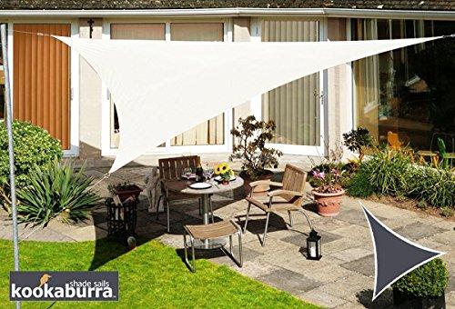 Kookaburra Wasserfest Sonnensegel 3,6m Dreieck Elfenbein