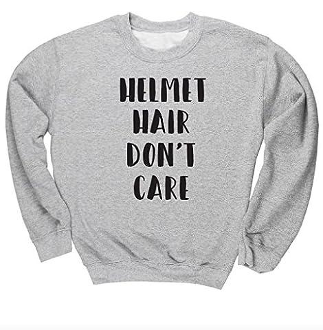 HippoWarehouse Helmet Hair Don't Care unisex jumper sweatshirt pullover