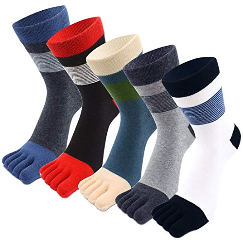 MOAMUN 5 Pares De Calcetines De Cinco Dedos Para Hombres