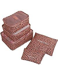 Lerben® Nueva 6pcs al aire libre Viajes esenciales bag-in-bag conjunto de equipaje Organizador bolsa de almacenamiento bolsa de mango de nailon bolsa de viaje