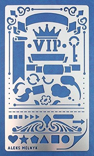 blone/Metall Stencil Vorlagen for Painting/Shabby Chic Vintage, Ornamente/1 Stück/DIY Kunst Projekte/Stencil für Scrapbooking und Zeichnen/Brandmalerei Schablone/Basteln ()