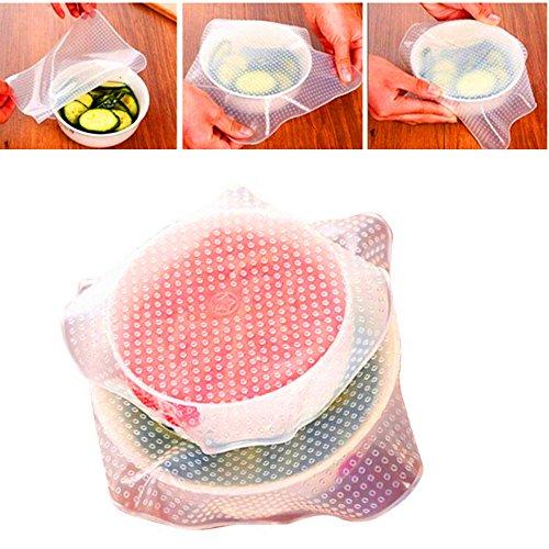 Silikon-Deckel für Konserven und Marmelade, Stretch-Deckel für frische Lebensmittel, dehnbar, transparent, M
