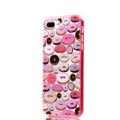 BONROY® Coque pour iPhone 7 (4,7 Zoll),Housse en cuir pour iPhone 7 (4,7 Zoll),imprimé étui en cuir PU Cuir Flip Magnétique Portefeuille Etui Housse de Protection Coque Étui Case Cover avec Stand Supp Colorful Donuts