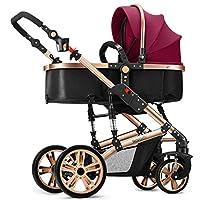 YIHANGG Lightweight Baby Pram Pushchair Buggy Travel Stroller Pushchair Reverse Or Forward Facing