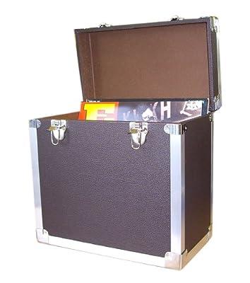 Steepletone Malle de rangement pour disque vinyles par Steepletone