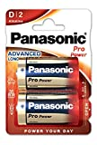 Panasonic Pro Power Alkali-Batterie (Mono D, LR20, 2er Pack)