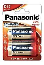 Panasonic Propower Batteria D, 2 Pezzi, Argento