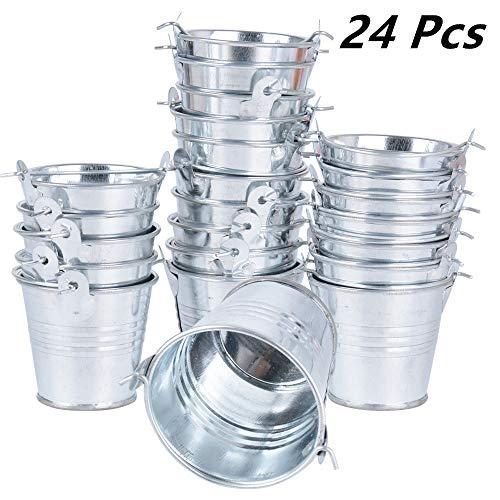24pcs Mini Cubos Metal Cajas Invitados Boda Fiesta