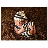Bébés à la main Bébé Garçon Crochet Tricot Bonnet Pantalons Photographie Props Outfits costume