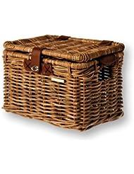 Basil Denton - Cesta de mimbre trasera para bicicletas (35 x 26 x 26 cm), color marrón