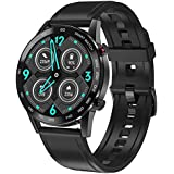 DT95 Smart Watch Bluetooth Call 1.3 Inch Full Touch Round Screen Heart Rate Sports Watch For Android & IOS - Black